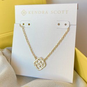 New Kendra Scott Decklyn Gold Logo Necklace